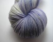 Deborah: Hand Dyed Silver Stellina Sock Yarn