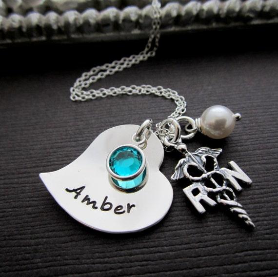 nurse jewelry rn nicu necklace registered lpn by shinymetals