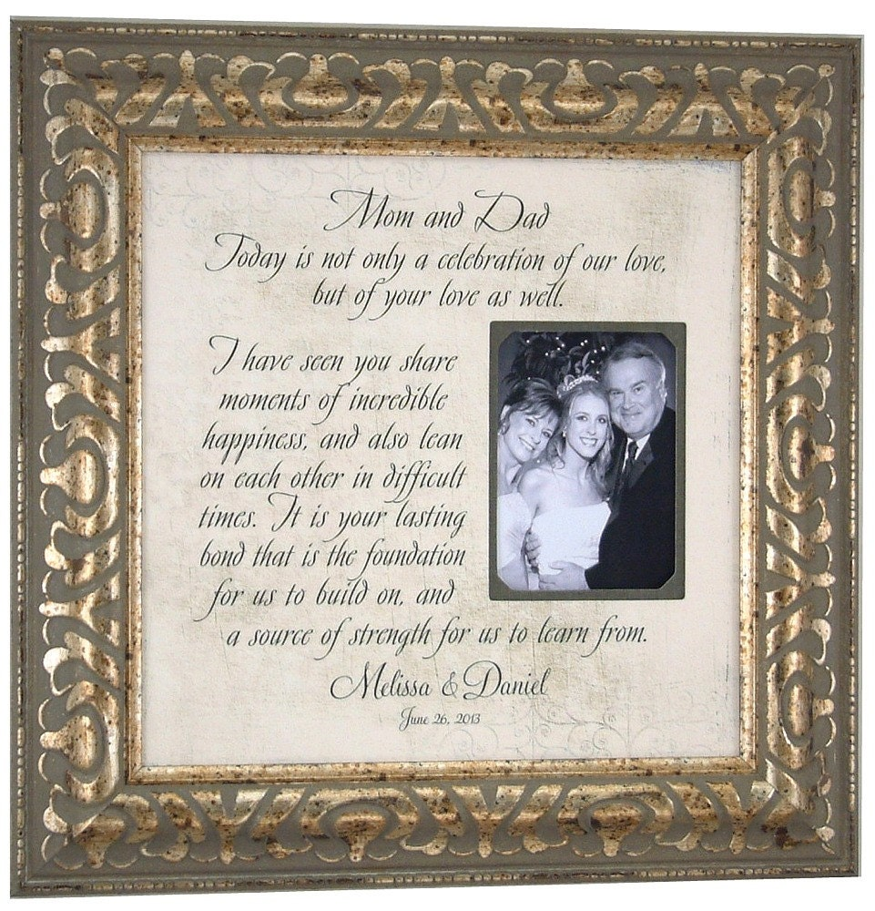 Wedding Gifts For Brides Parents : Mother of The Bride Gift Parents Wedding Gift MOM & DAD Personalized ...