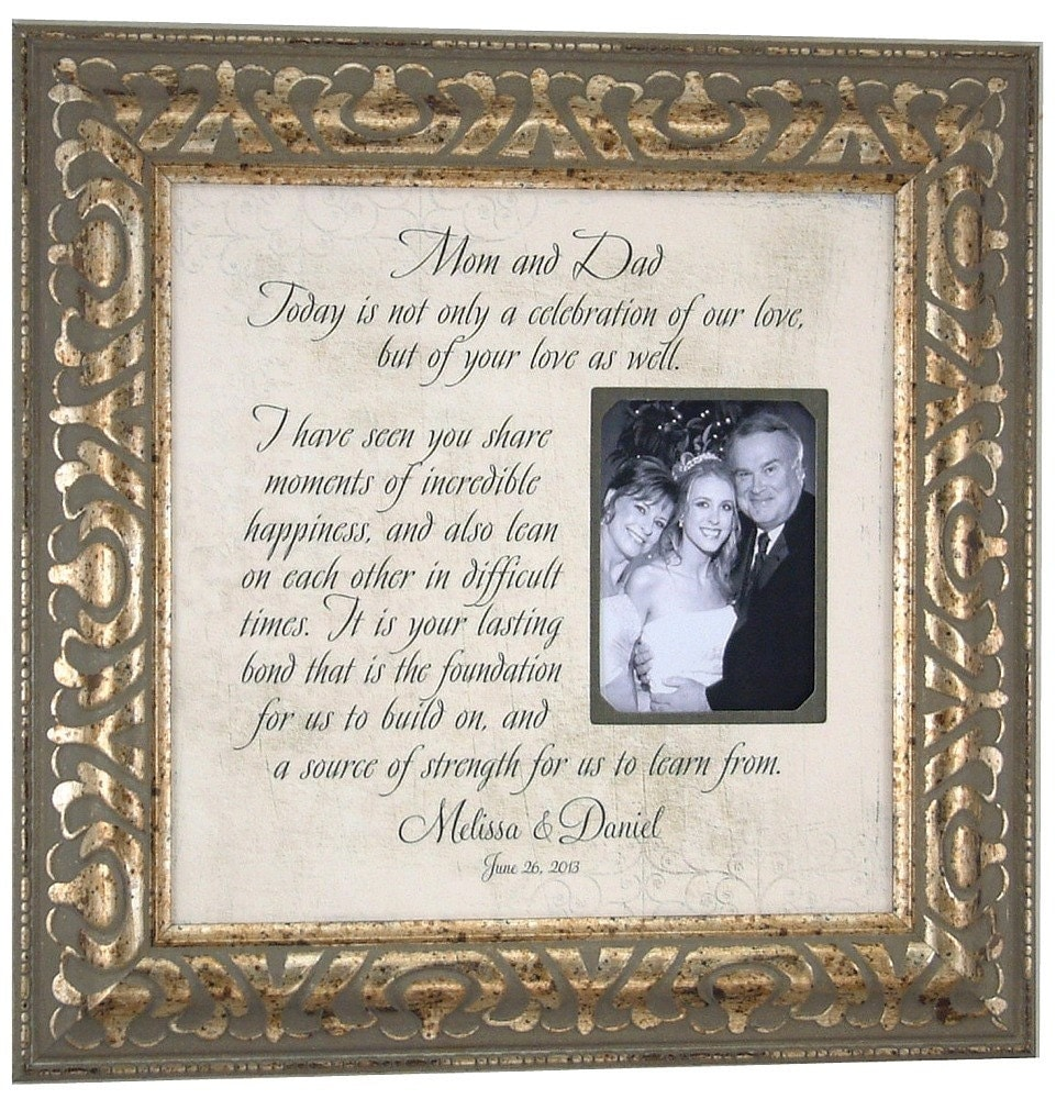 Wedding Gifts Parents: Personalized Frame Mother Of The Bride Gift By