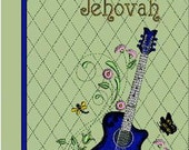 Blue Guitar  - Large Song Book Cover - Made to order