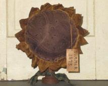Primitive Sunflower Make Do - Grungy - Fabric - Home Decor - Centerpiece