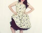 Floral print retro dress