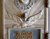 Vintage 1920s Bronze with Eagle Post Office Door