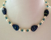 Blue Lagoon Glass & Swarovski Necklace