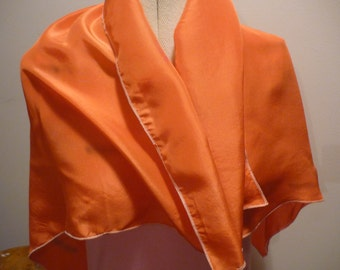 Handpainted Silk Headscarf in Autumn Colours by The Silk Maid