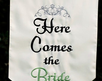 Here Comes the Bride Banner - One sided