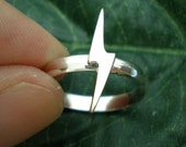 Zen Mini Cute Lightning Bolt Silver Ring Size US 3 - 14 - Deals, Closeout, Discount, On Sale