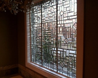 Custom Made to Order All Beveled Stained Glass Windows