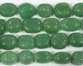 "Aventurine Beads 10x14mm Nugget Genuine Green Bead Semiprecious Gemstone 15""L Bead Jewelry Making 15""L 6210"