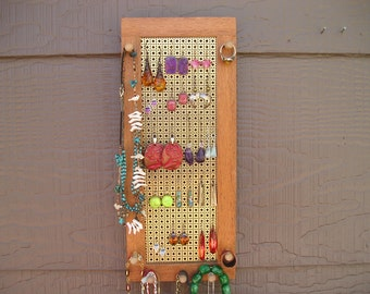 earring holder - necklace holder - sustainably harvested australian lacewood - jewelry organizer - jewelry holder - woodworking