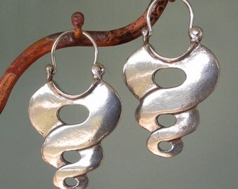 Sterling Silver Twist Earrings - hoop style