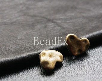 12pcs / Spacer / Heart / Antique Brass Tone / Base Metal / 12x16mm (YB11488//D2B)