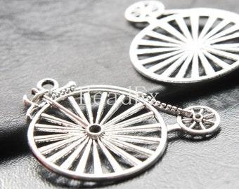 4pcs / Bike / Oxidized Silver Tone / Base Metal Pendants (YA13601//D303)