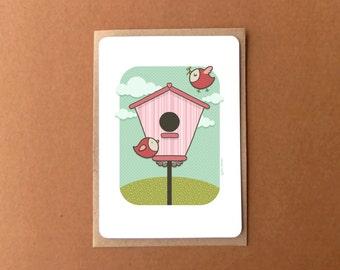 Cute greeting card - housewarming or baby shower