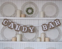 CANDY BAR Banner for Weddings, Receptions, Parties and Wedding Photos