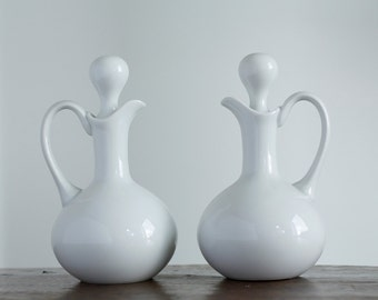 Limoges Giraud Oil & Vinegar Cruets - Set of 2