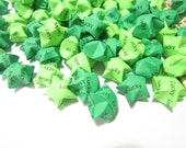 SALE 124 Lucky Green Origami Stars