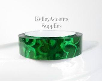 Green Heart Shimmer Tape - Green Heart Metallic Tape