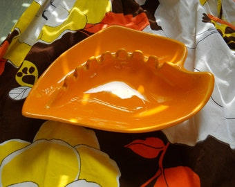Retro Orange 1970s AshTray
