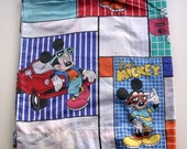 Vintage 1980s Cool Mickey Mouse Double Flat Bed Sheet