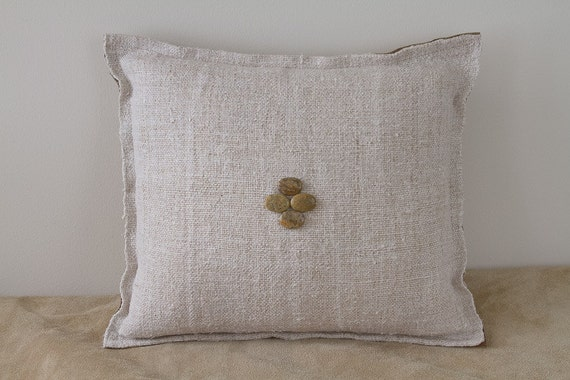 Decorative Cream Pillows : Decorative beige Throw Pillow cream linen by originalthrowpillows