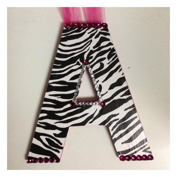 Items Similar To Custom Zebra Print/Hot Pink Name Or