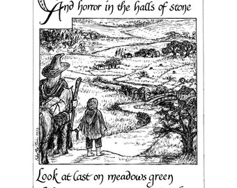 DISCOUNTED- Return to the Shire art print