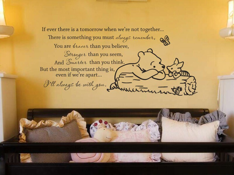 Classic winnie the pooh if ever there is a by grabersgraphics for Classic pooh wall mural