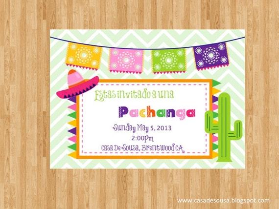 Invitación para una fiesta Mexicana Invitación por CasaDeSousa