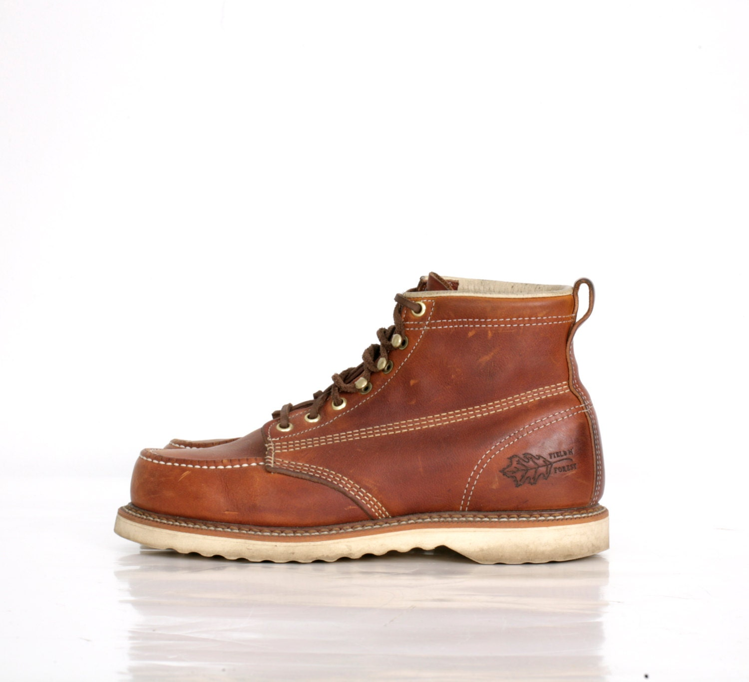 Vintage Work Boots Hiking By Field And Forest Mens 8