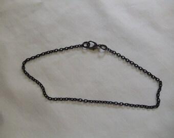 """10"""" Black Chain Anklet"""