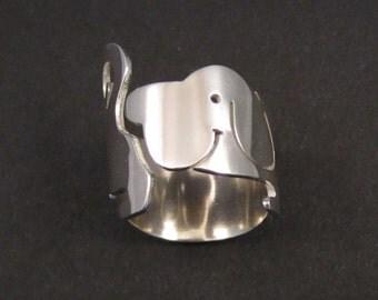 My Dog Says Hi silver ring