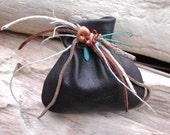 Medicine Bag - Leather Pouch bag - Native American Spirit Bag - Leather Art Bag - Beaded Bag