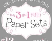 Four Paper Sets - digital background papers