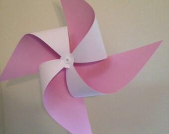 Large Pinwheel Light Pink and White