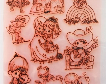 "Happy Children / Clear stamps large sheet (7""x10"") UM FLONZ 403-105"