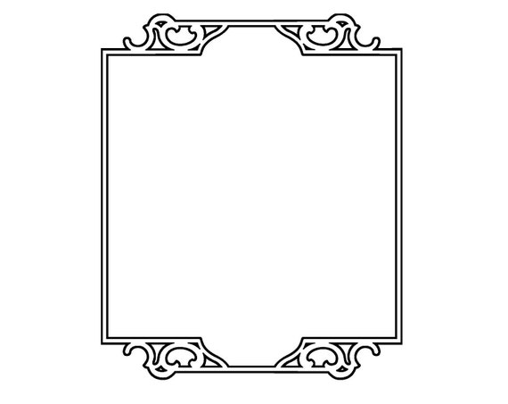 Vintage Rectangle Border Simple Rectangle Border