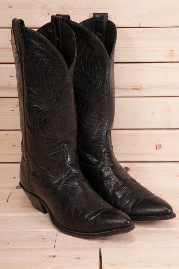 Vintage black Code West cowboy boots size 7M