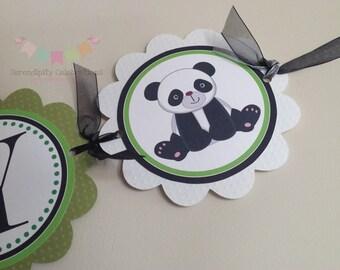 Panda It's A Boy Banner, Baby Shower Banner