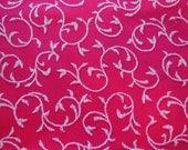 Cloth Napkins - Set of Four - Raspberry Scroll Design Napkins by Pillowscape Designs