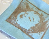 Lavender Sachet, Victorian Style Baby Sachet -Blue Linen (Gifts under 10 dollars) New Baby/ Baby Shower/ New Mother Gift