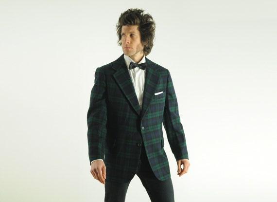 Blazer Coat Mens Coat 1970 Tartan Blazer