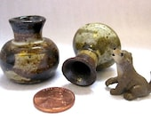 The Country Coyote Miniature Ceramic Vase Set