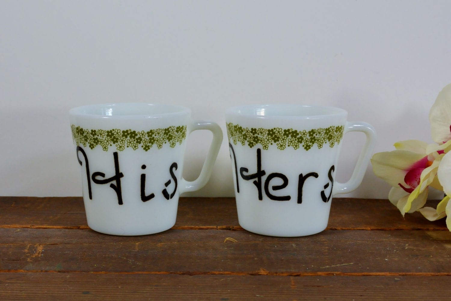 his and hers coffee mugs couples coffee mug set by newaged. Black Bedroom Furniture Sets. Home Design Ideas