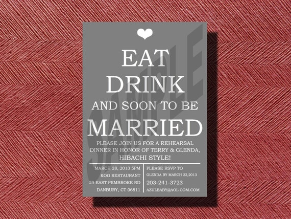 Who Do You Invite To Wedding Rehearsal Dinner: Fun Rehearsal Dinner Invitation DIY