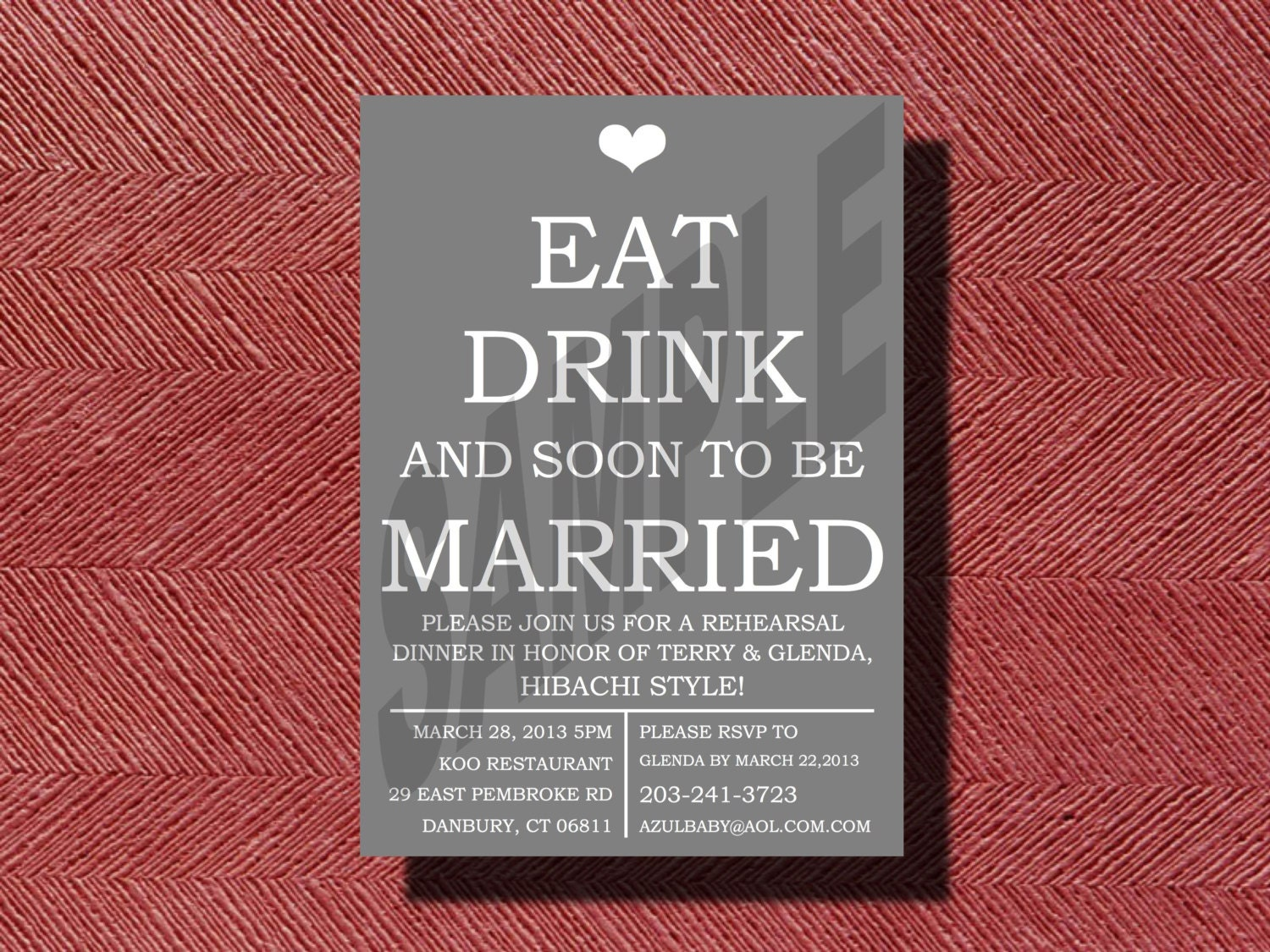 Wedding Welcome Dinner Invitation Wording: Fun Rehearsal Dinner Invitation DIY