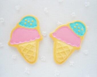 4pcs - LL Ice Cream Flatback Decoden Cabochon (49x34mm) MXL10002