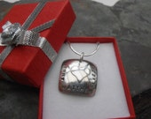 Square sterling silver pendant