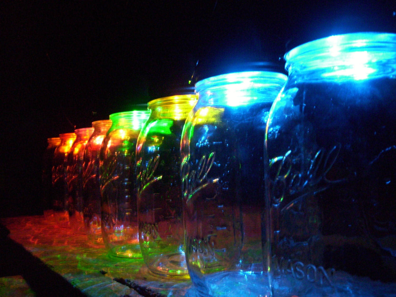 Color Changing Mason Jar Solar Lid Hanging By DownInTheBoondocks